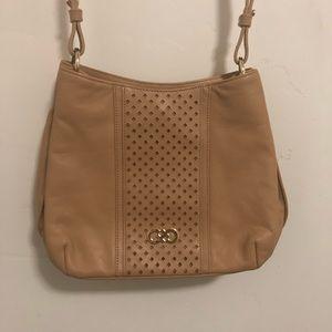 Cole Haan monogram crossbody purse tan